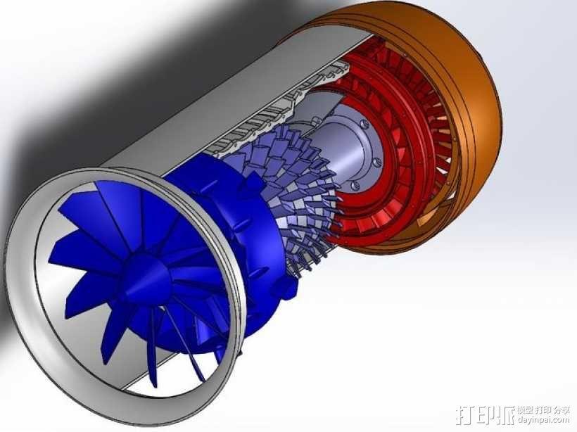 涡轮风扇发动机 3D模型  图9