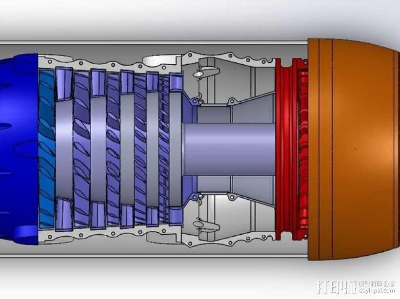 涡轮风扇发动机 3D模型  图8