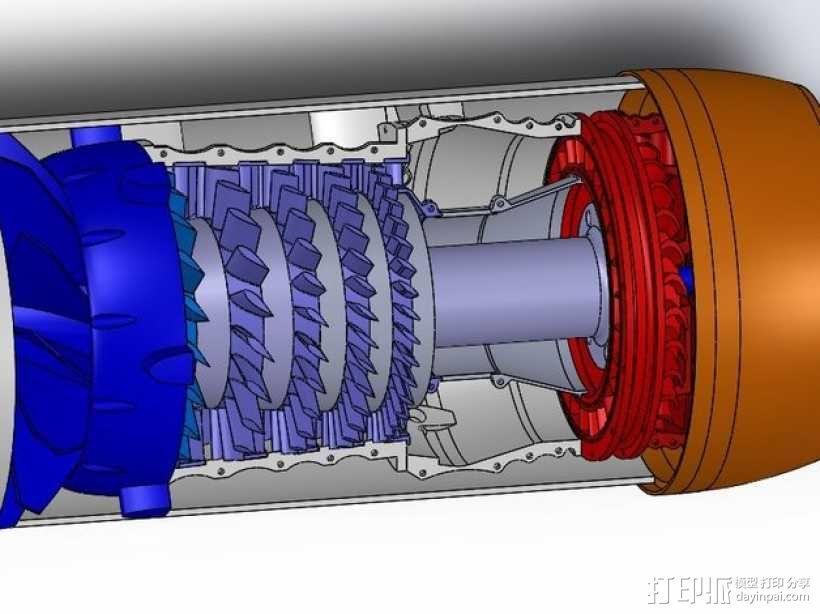 涡轮风扇发动机 3D模型  图7