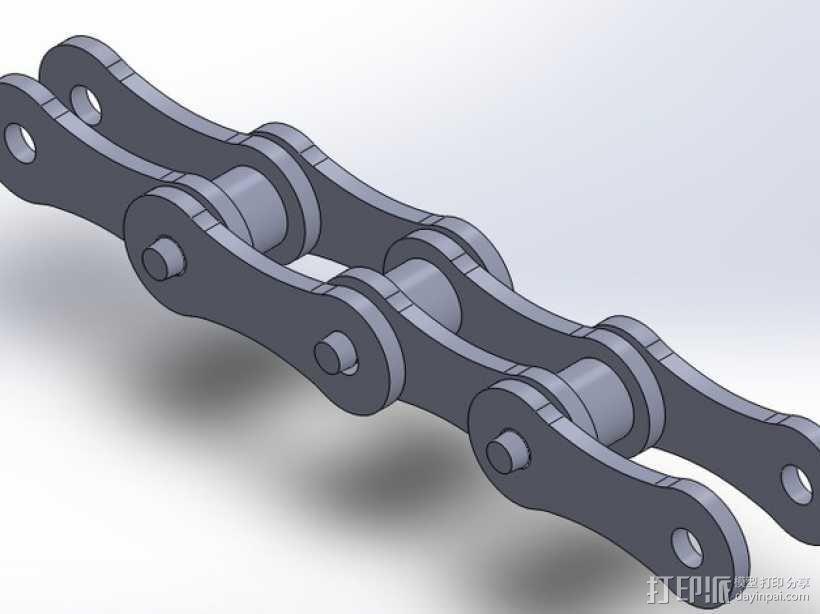 自行车链条 3D模型  图1