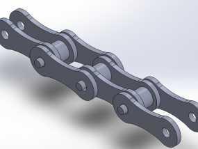 自行车链条 3D模型