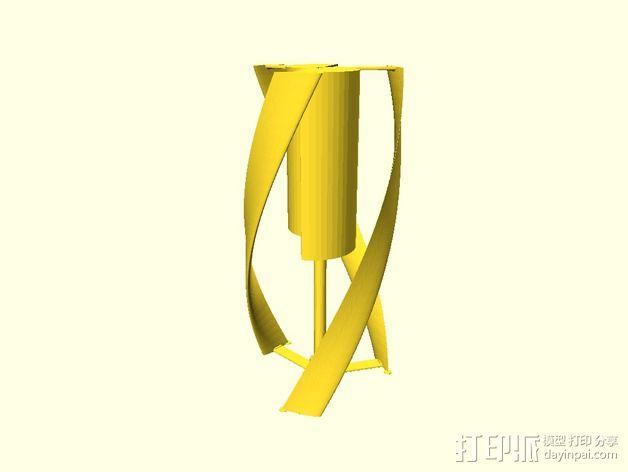 螺旋叶片风车 3D模型  图2