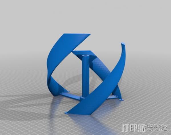 螺旋叶片风车 3D模型  图4