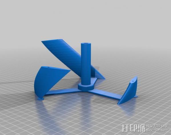 螺旋叶片风车 3D模型  图3