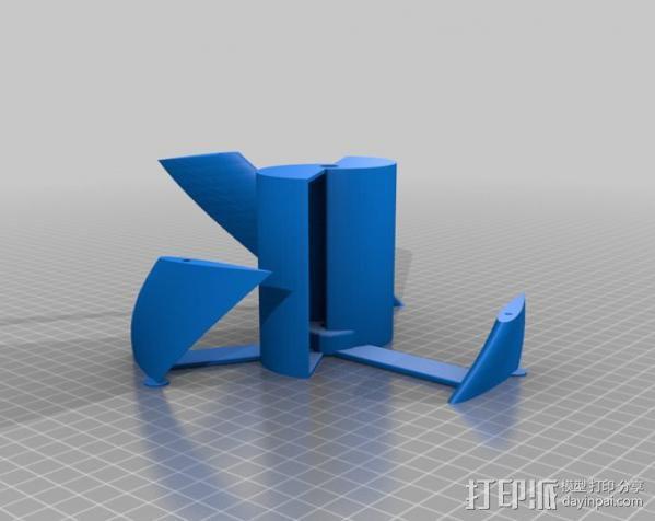 螺旋叶片风车 3D模型  图7