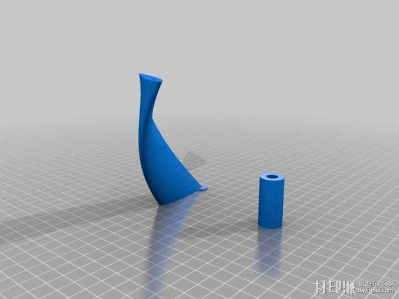 螺旋叶片风车 3D模型  图9