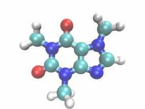 咖啡因分子模型 3D模型