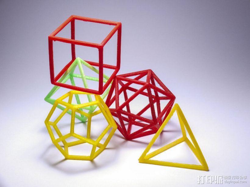 正多面体 3D模型  图1