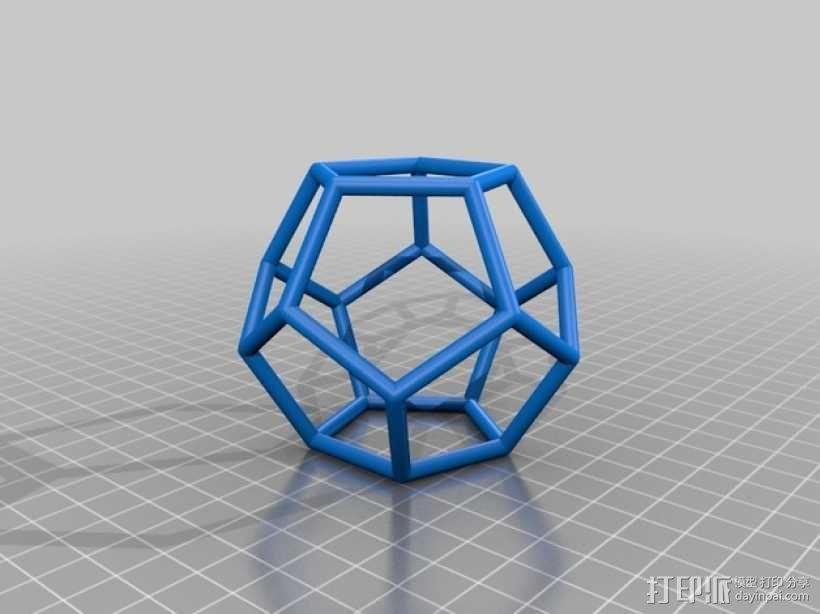 正多面体 3D模型  图4