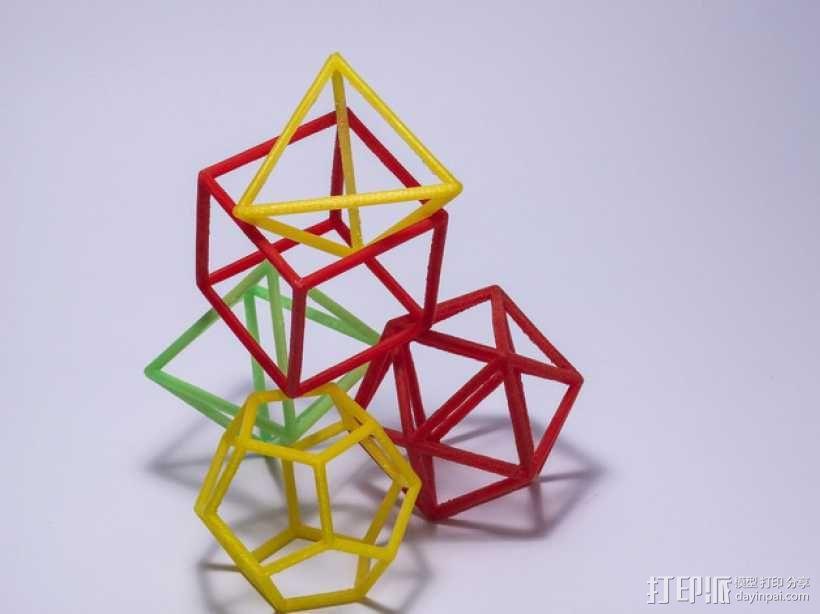 正多面体 3D模型  图2