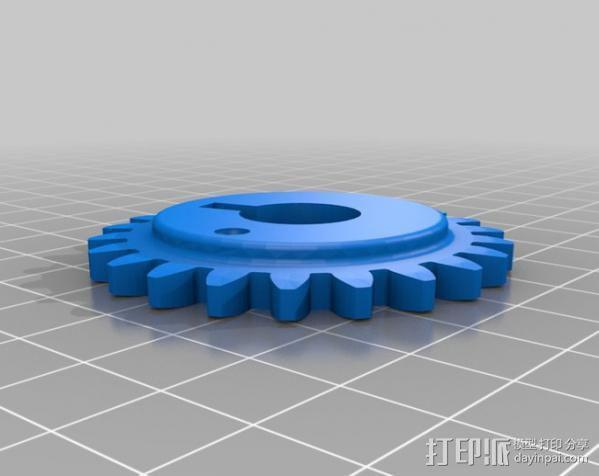 Napier Deltic发动机 3D模型  图7