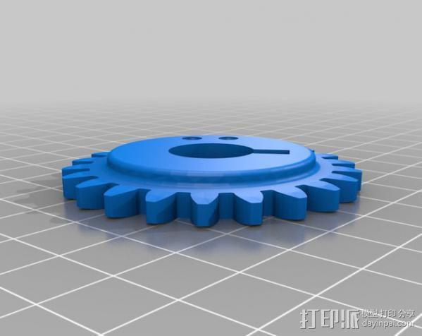 Napier Deltic发动机 3D模型  图8