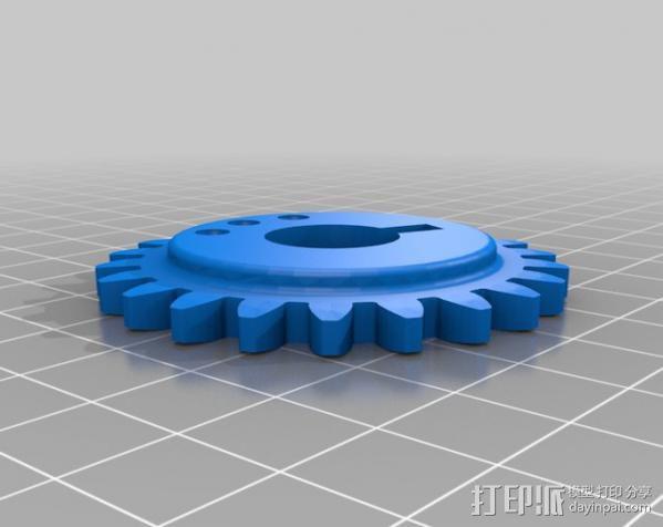 Napier Deltic发动机 3D模型  图9