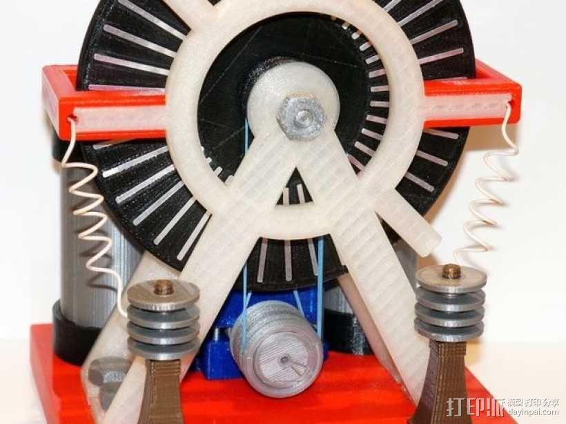 维姆胡斯特起电机 3D模型  图1