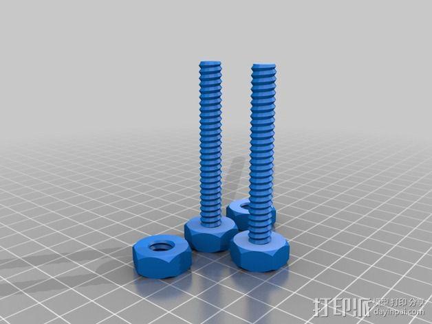 维姆胡斯特起电机 3D模型  图3