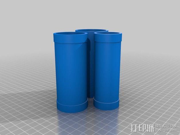 维姆胡斯特起电机 3D模型  图6
