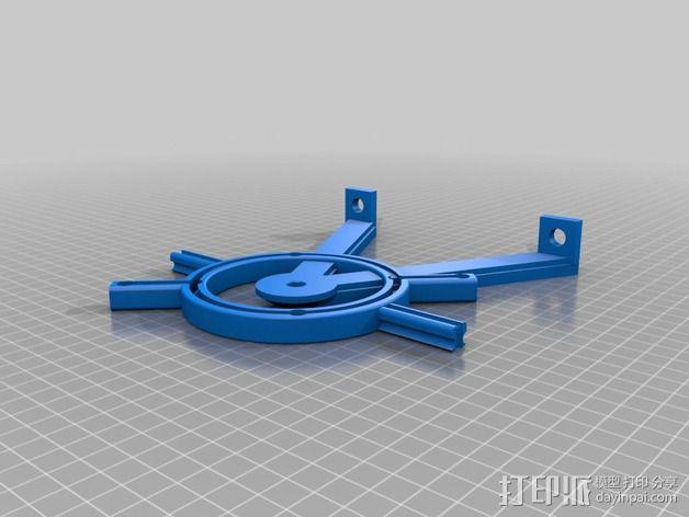 维姆胡斯特起电机 3D模型  图8