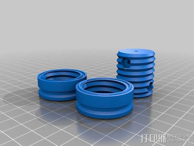 维姆胡斯特起电机 3D模型  图11