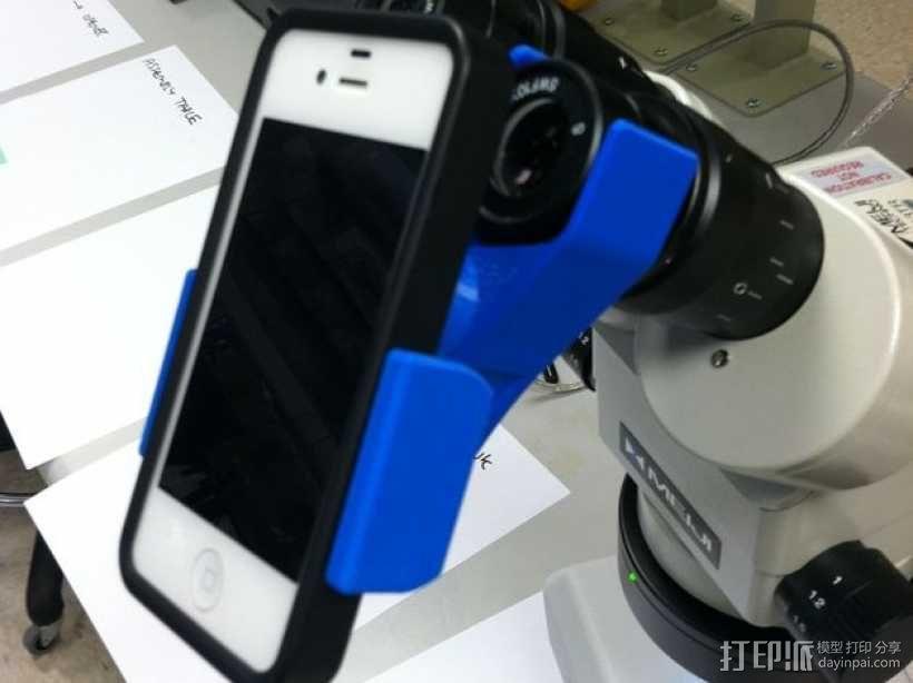 手机支架适配器 3D模型  图1