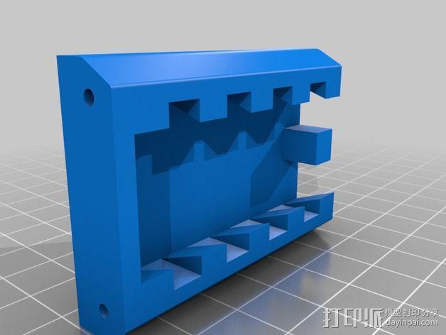 手机支架适配器 3D模型  图2