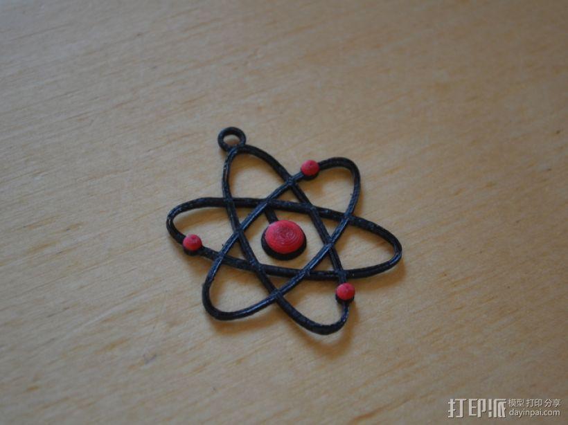 原子模型  3D模型  图1