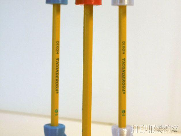 火箭形铅笔套 3D模型  图3