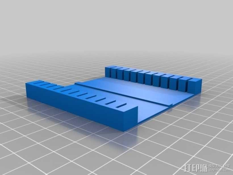 显微镜载玻片器 3D模型  图2