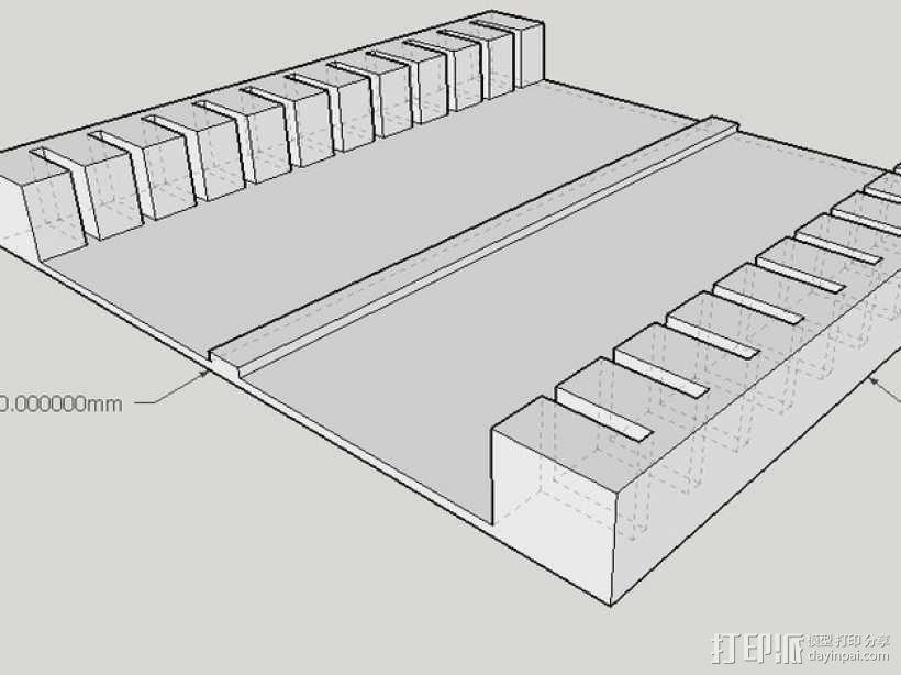 显微镜载玻片器 3D模型  图3