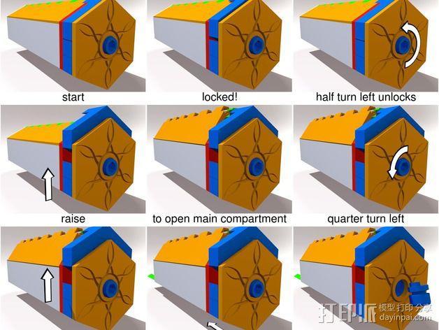谜箱 魔术盒 3D模型  图3