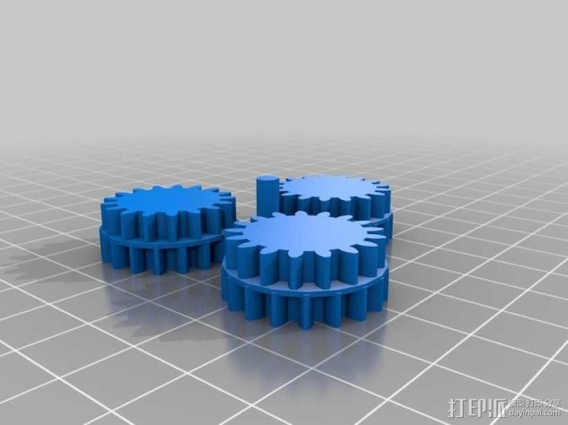 齿轮箱 3D模型  图3
