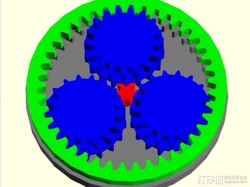 齿轮箱 3D模型  图6