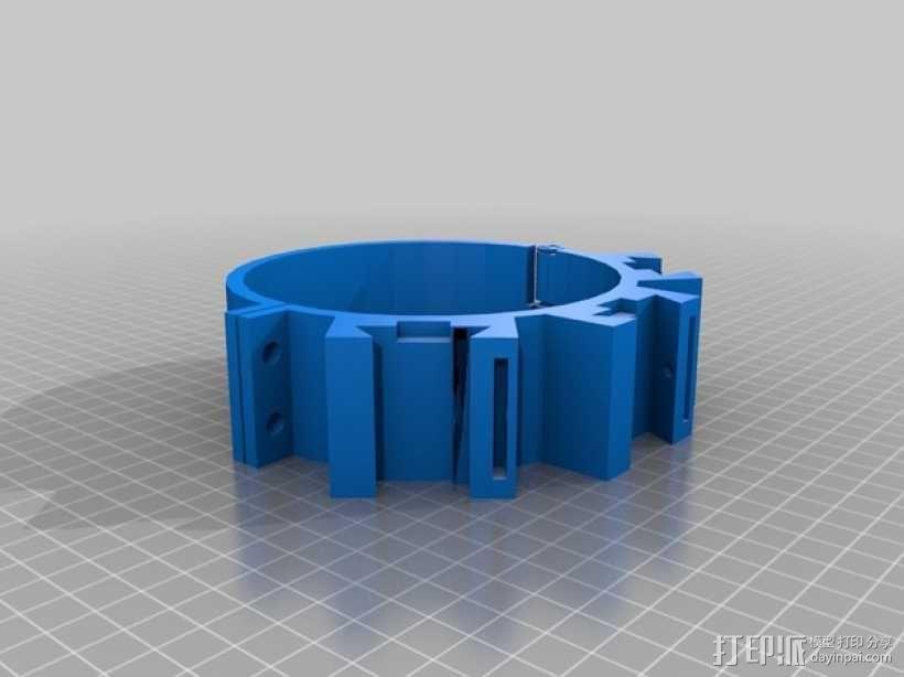 望远镜装配环 3D模型  图2