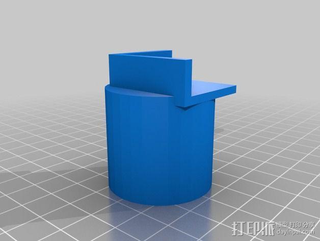 显微镜/智能手机适配器 3D模型  图1