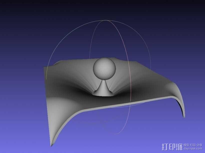 重力 模型 3D模型  图1