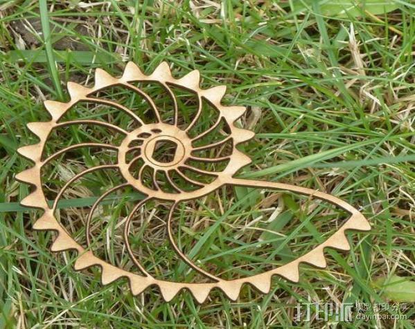 鹦鹉螺齿轮电动展示台 3D模型  图2