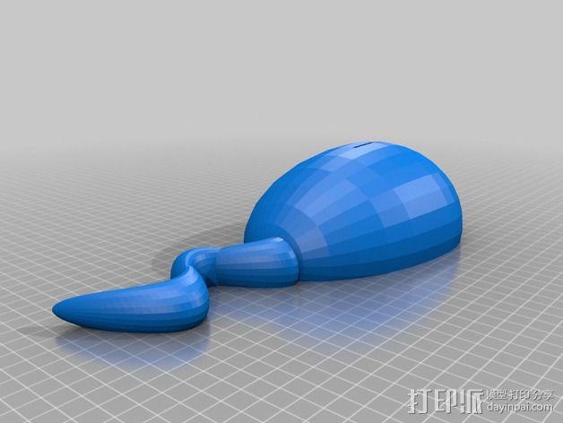 蝌蚪存钱罐 3D模型  图4