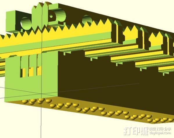 盲文点触设备 3D模型  图2