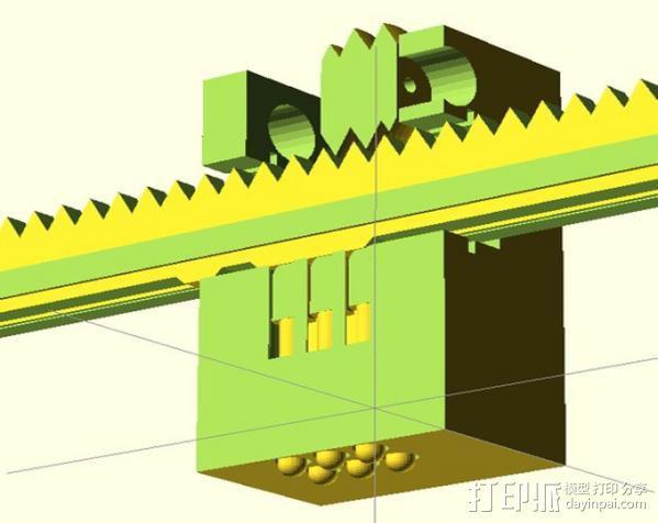 盲文点触设备 3D模型  图3