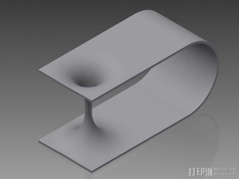 虫洞模型 3D模型  图2