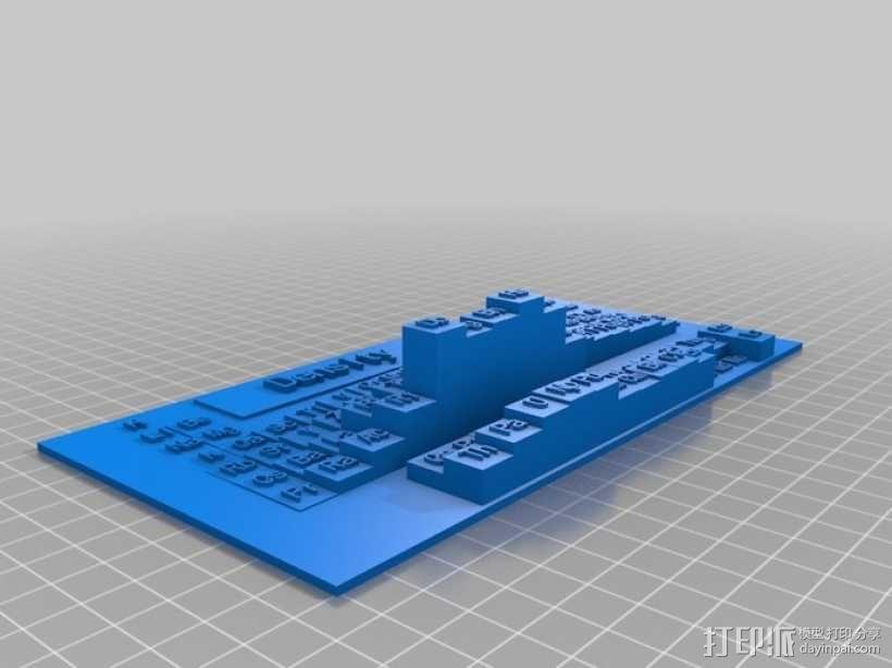 元素周期表 3D模型  图1