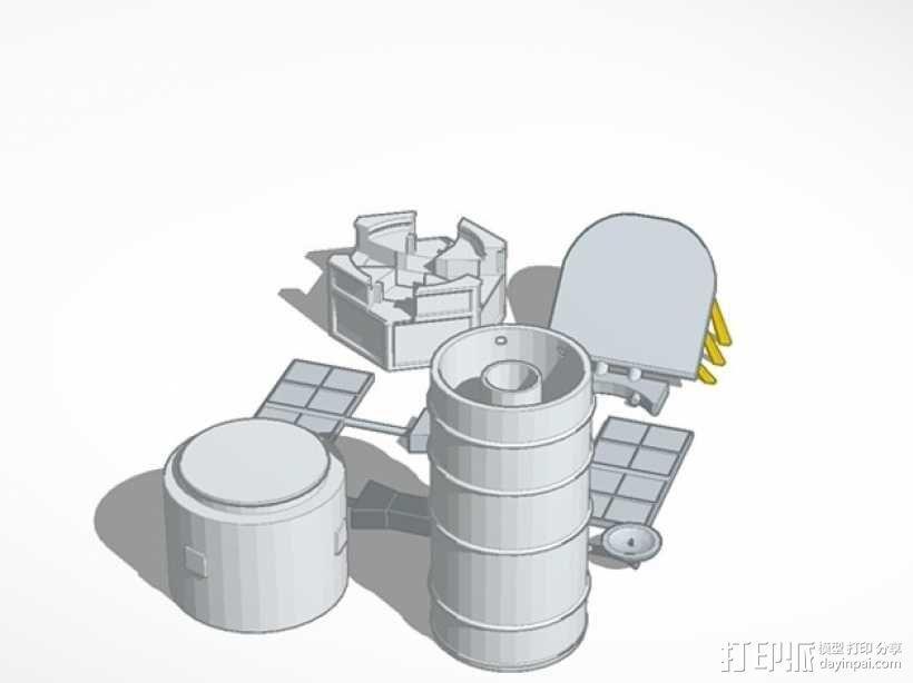 哈勃望远镜 模型 3D模型  图1