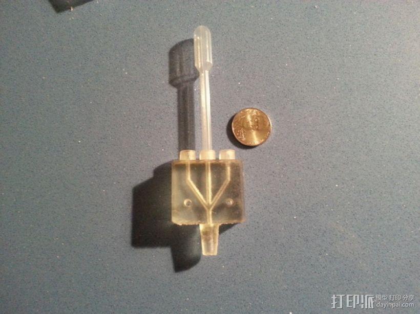 三腔插管打印头 3D模型  图3