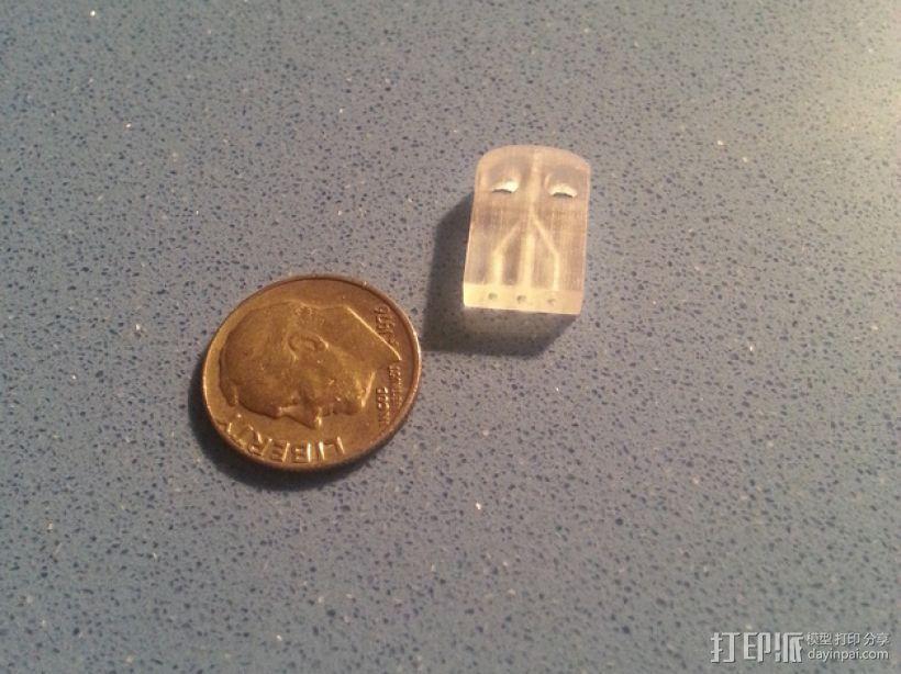 三腔插管打印头 3D模型  图4