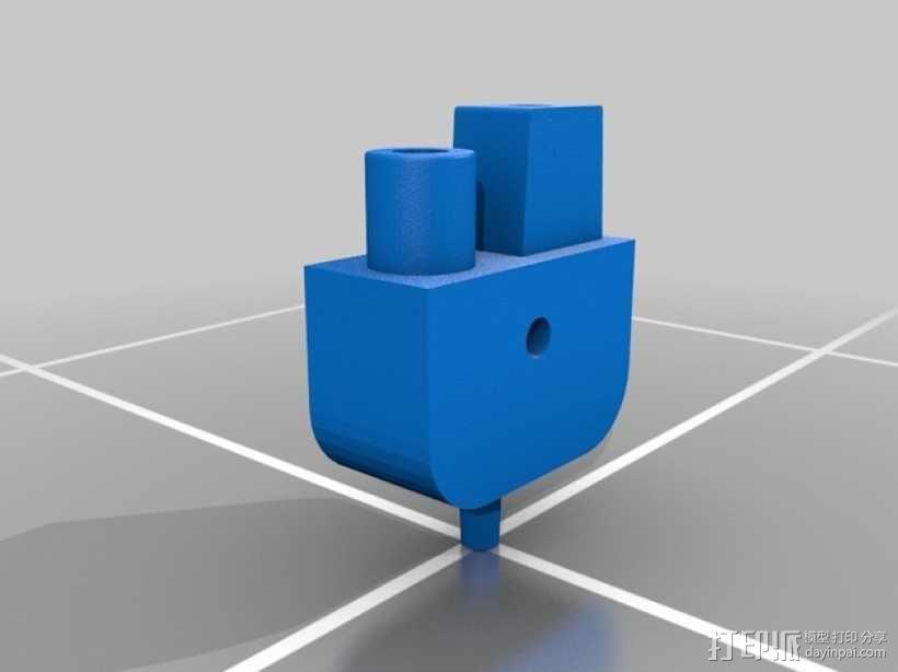 三腔插管打印头 3D模型  图7