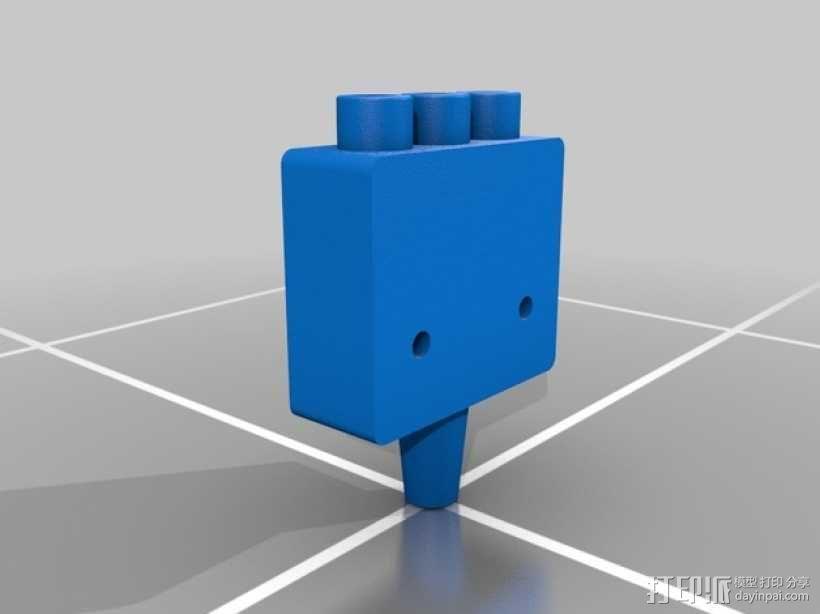 三腔插管打印头 3D模型  图9