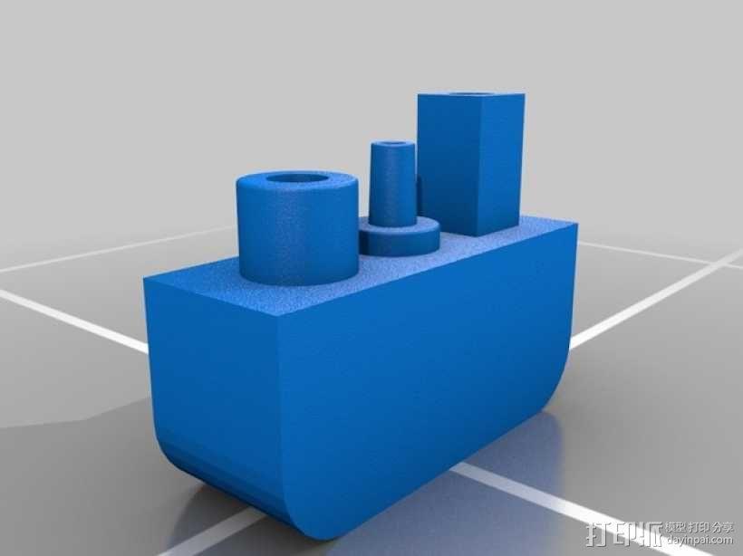 三腔插管打印头 3D模型  图8