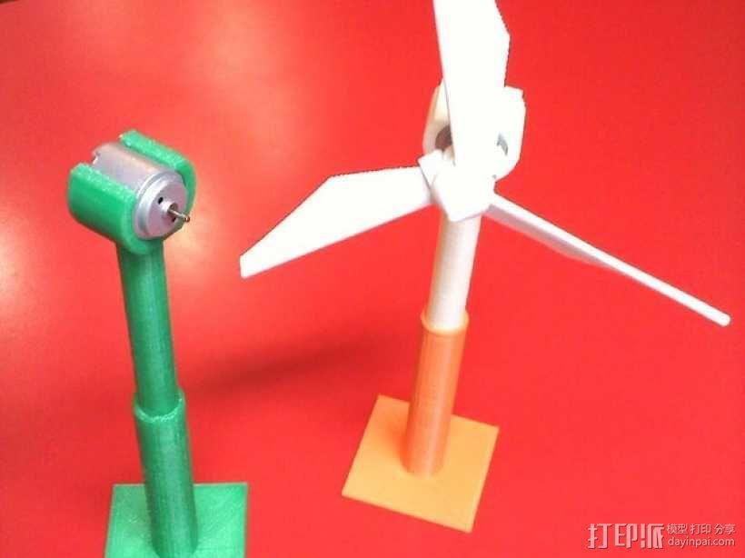 风力涡轮机 底座 3D模型  图1
