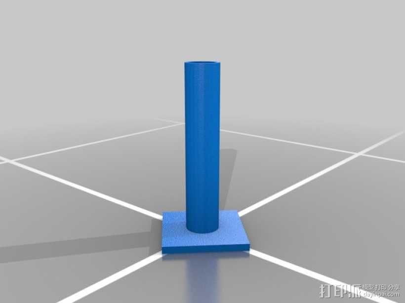 风力涡轮机 底座 3D模型  图2