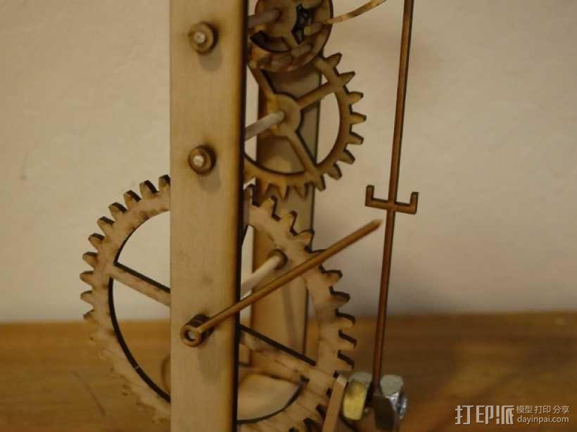 伽利略摆钟 3D模型  图1
