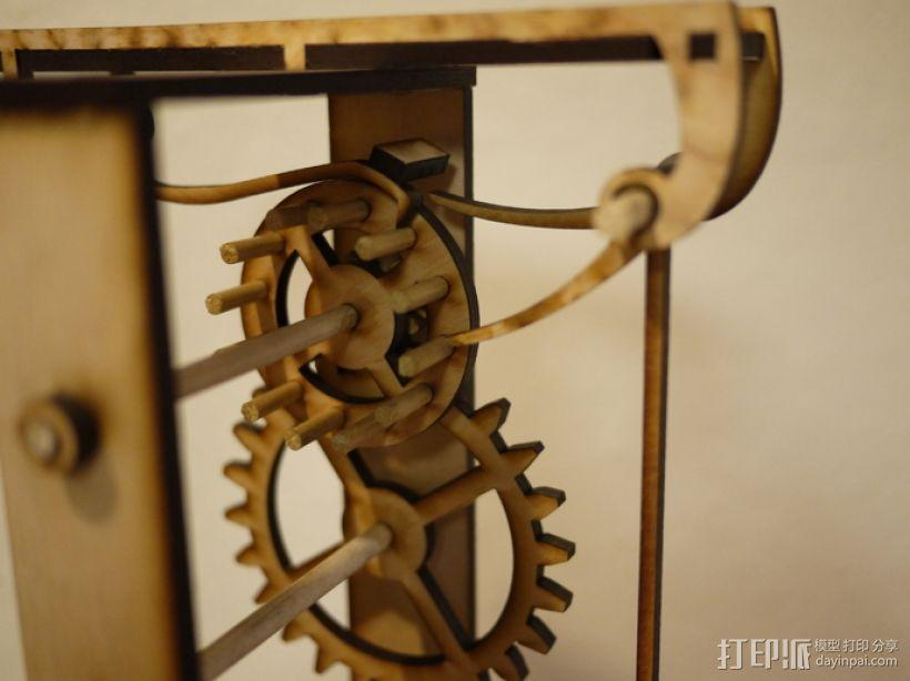 伽利略摆钟 3D模型  图2
